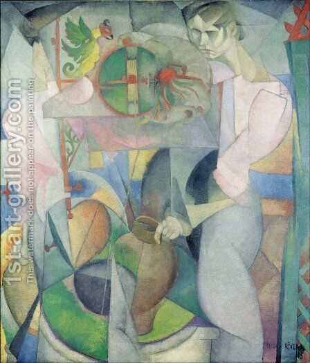 Woman at a Well 1913 by Diego Rivera - Reproduction Oil Painting