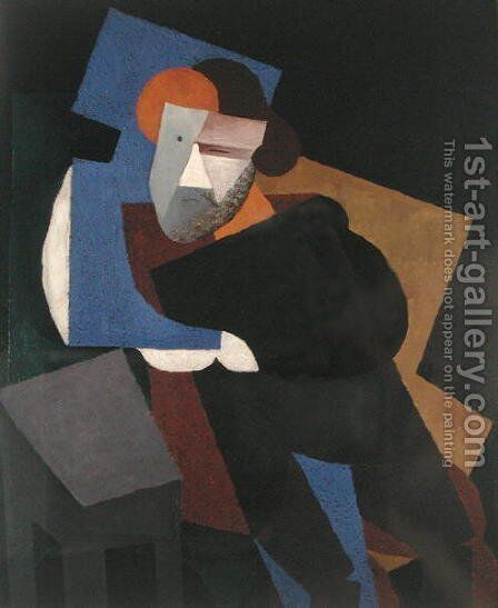 Portrait of Maximilian Voloshin, 1916 by Diego Rivera - Reproduction Oil Painting