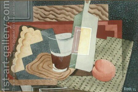 Still Life with Bottle and Glass 1945 by Diego Rivera - Reproduction Oil Painting