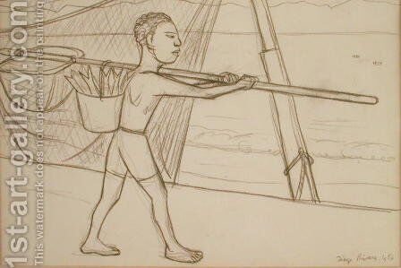 Young Fisherman  1956 by Diego Rivera - Reproduction Oil Painting