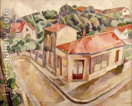 View of Arcueil by Diego Rivera - Reproduction Oil Painting