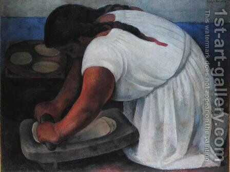 La Molendera, 1923 by Diego Rivera - Reproduction Oil Painting