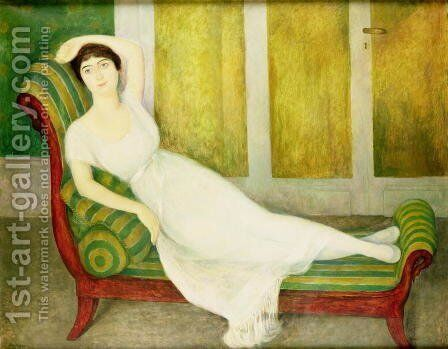 Portrait of Angelina Belof, 1918 by Diego Rivera - Reproduction Oil Painting