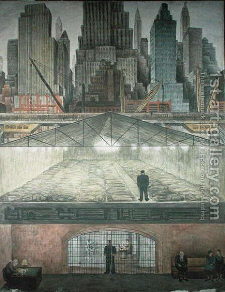 Frozen Assets 1931 by Diego Rivera - Reproduction Oil Painting