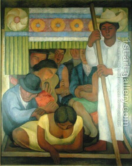 The Flowered Canoe, 1931 by Diego Rivera - Reproduction Oil Painting