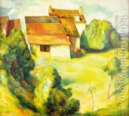 Farmhouse, 1914 by Diego Rivera - Reproduction Oil Painting