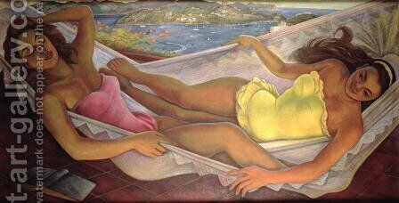 The Hammock, 1956 by Diego Rivera - Reproduction Oil Painting