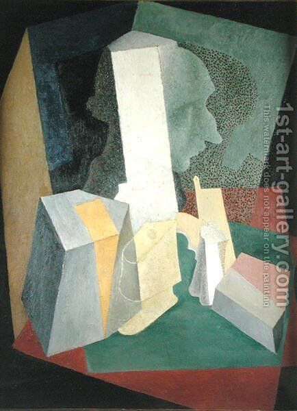 Composition with Bust  1916 by Diego Rivera - Reproduction Oil Painting