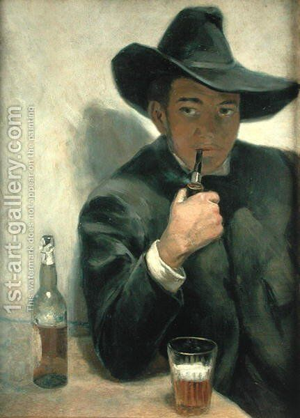 Self Portrait, 1916 by Diego Rivera - Reproduction Oil Painting