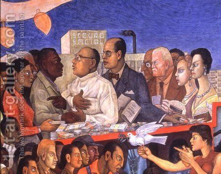 The History of Medicine in Mexico  The People's Demand for Better Health, 1953 by Diego Rivera - Reproduction Oil Painting