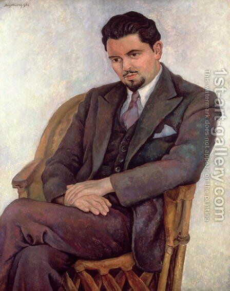 Portrait of the Poet Lalane  1936 by Diego Rivera - Reproduction Oil Painting