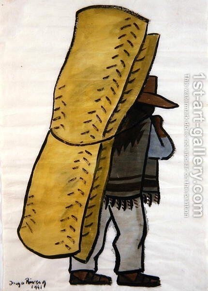 Cargo Man 1941 by Diego Rivera - Reproduction Oil Painting