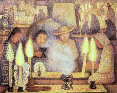 The Day of the Dead, 1944 by Diego Rivera - Reproduction Oil Painting