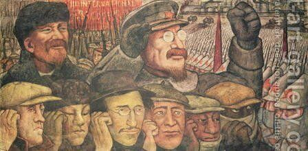 The Third International, Moscow 1917 by Diego Rivera - Reproduction Oil Painting