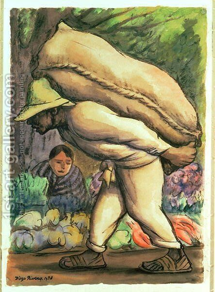 Campesino 1938 by Diego Rivera - Reproduction Oil Painting