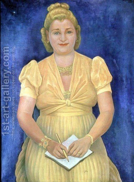 Portrait of Miss Betty Ross (d.1964) 1943 by Diego Rivera - Reproduction Oil Painting