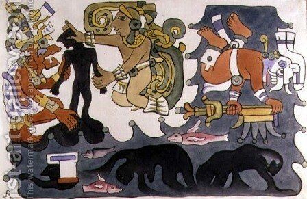 The Creation of Man, Popol Vuh by Diego Rivera - Reproduction Oil Painting