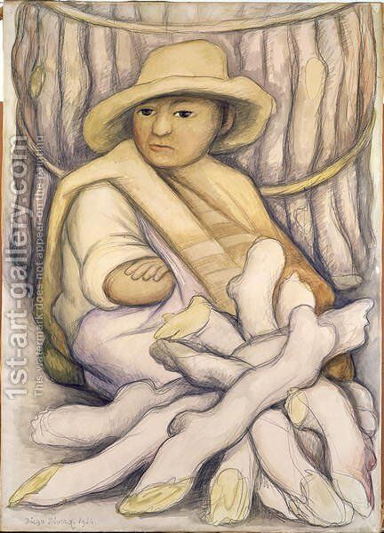 The Peasant, 1934 by Diego Rivera - Reproduction Oil Painting