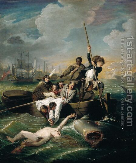 Watson and the Shark, 1782 by John Singleton Copley - Reproduction Oil Painting