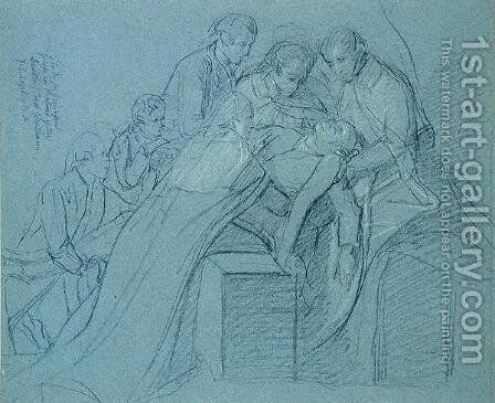 Study for the Central Group in the Death of Earl of Chatham by John Singleton Copley - Reproduction Oil Painting