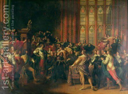 Charles I (1600-49) Demanding the Five Members in the House of Commons in 1642 by John Singleton Copley - Reproduction Oil Painting