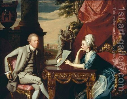 Mr and Mrs Ralph Izard (Alice Delancey) 1775 by John Singleton Copley - Reproduction Oil Painting