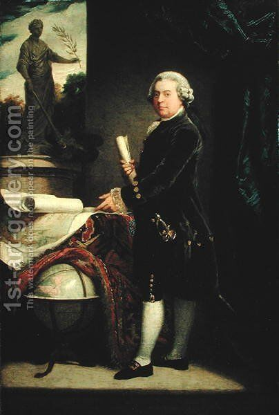 John Adams, after 1783 by John Singleton Copley - Reproduction Oil Painting