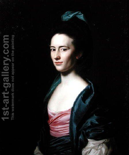 Portrait of Frances Montresor of New York, (1744-1826) 1771 by John Singleton Copley - Reproduction Oil Painting