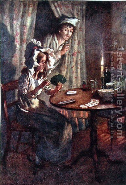 Dick Swiveller's Surprise, 1924 by Harold Copping - Reproduction Oil Painting