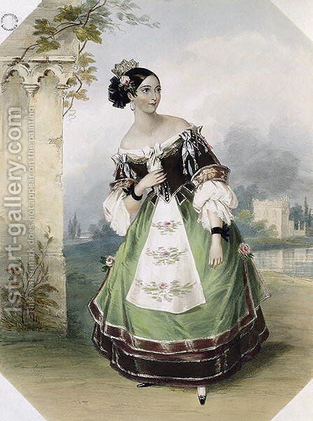 Emma Albertazzi as Zerlina in Don Giovanni by (after) Corbaut, Fanny - Reproduction Oil Painting