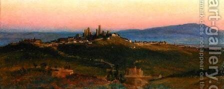 View of San Gimignano, 1898 by Edith Ridley Corbet - Reproduction Oil Painting