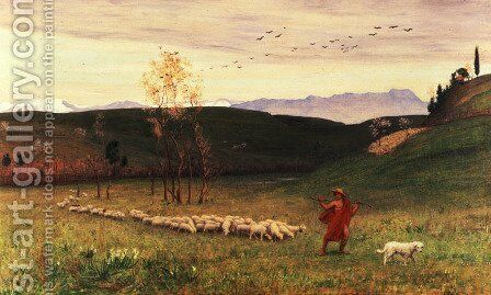 The Arcadian Shepherd and His Flock, 1883 by Matthew Ridley Corbet - Reproduction Oil Painting