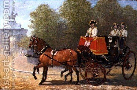 Returning from Her Majesty's Drawing Room, Hyde Park Corner, 1853 by Alfred Corbould - Reproduction Oil Painting