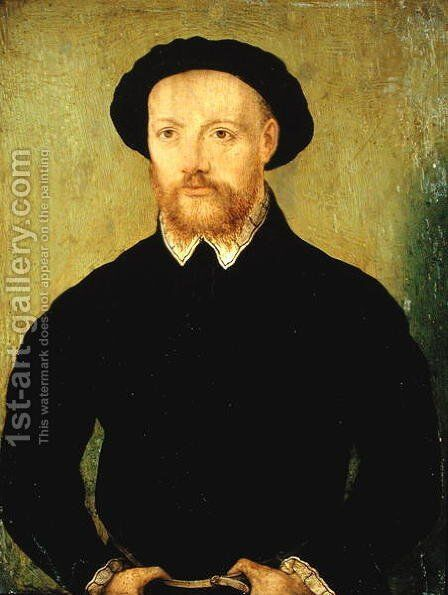 Man with a Red Beard by Corneille De Lyon - Reproduction Oil Painting