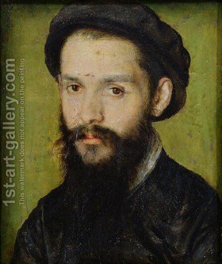 Portrait presumed to be Clement Marot (1496-1544) by Corneille De Lyon - Reproduction Oil Painting