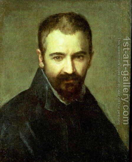 Possible self portrait by Correggio (Antonio Allegri) - Reproduction Oil Painting