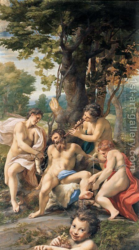 Allegory of the Vices, 1529-30 by Correggio (Antonio Allegri) - Reproduction Oil Painting