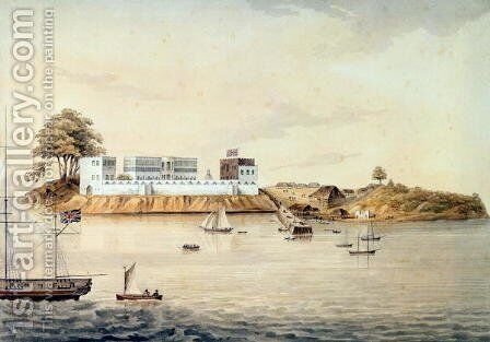 Bance Island, River Sierra Leone, Coast of Africa, Perspective Point at 1, c.1805 by Corry - Reproduction Oil Painting