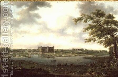 Chantilly in 1781, View from Vertugadin by Hendrik Frans de Cort - Reproduction Oil Painting