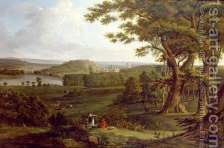 View from the North West of Castle Howard, Yorkshire, 1800 by Hendrik Frans de Cort - Reproduction Oil Painting