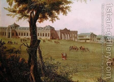 View of Chantilly from the garden in 1781  (detail) by Hendrik Frans de Cort - Reproduction Oil Painting