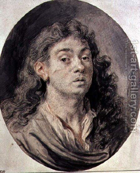 Self Portrait by Jan Cossiers - Reproduction Oil Painting