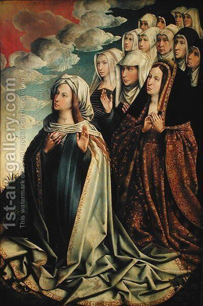 Mary the Mediator with Joanna the Mad and her entourage by Colijn de Coter - Reproduction Oil Painting