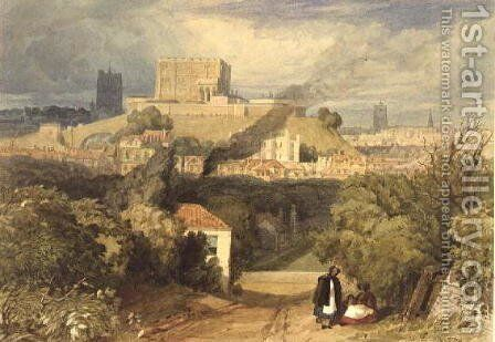 Norwich from the East c.1828 by Miles Edmund Cotman - Reproduction Oil Painting