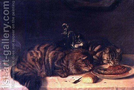A Chop for One by Horatio Henry Couldery - Reproduction Oil Painting