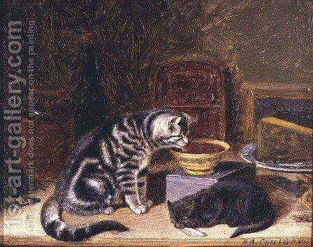 Two Cats by Horatio Henry Couldery - Reproduction Oil Painting