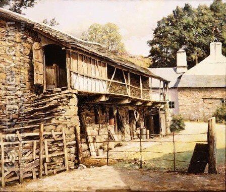 Yew Tree Farm near Coniston, Lancashire by Arthur Vivian Couling - Reproduction Oil Painting