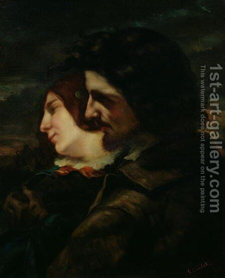 The Lovers in the Countryside, after 1844 by (attr. to) Courbet, Gustave (1819-1877) - Reproduction Oil Painting
