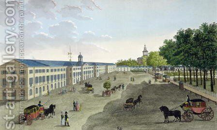 View of the New Gallery of the Museum of Natural History at Jardin des Plantes in Paris by Henri  (after) Courvoisier-Voisin - Reproduction Oil Painting