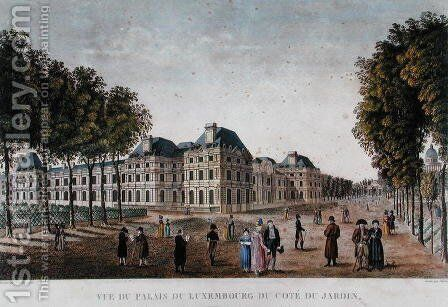 The Luxembourg Palace, c.1815-20 by Henri  (after) Courvoisier-Voisin - Reproduction Oil Painting